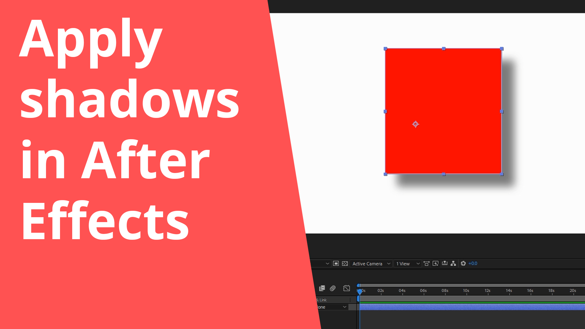 Apply shadows in After Effects