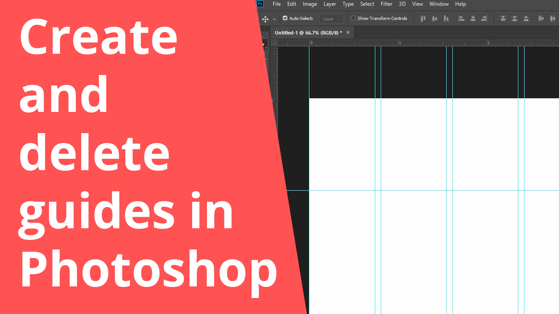 Create and delete guides in Photoshop