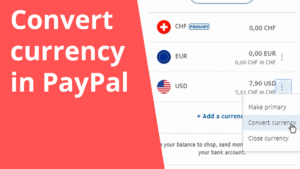 Convert currency in PayPal