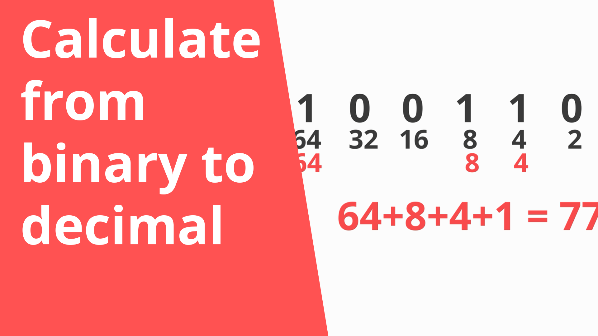 Calculate binary to decimal