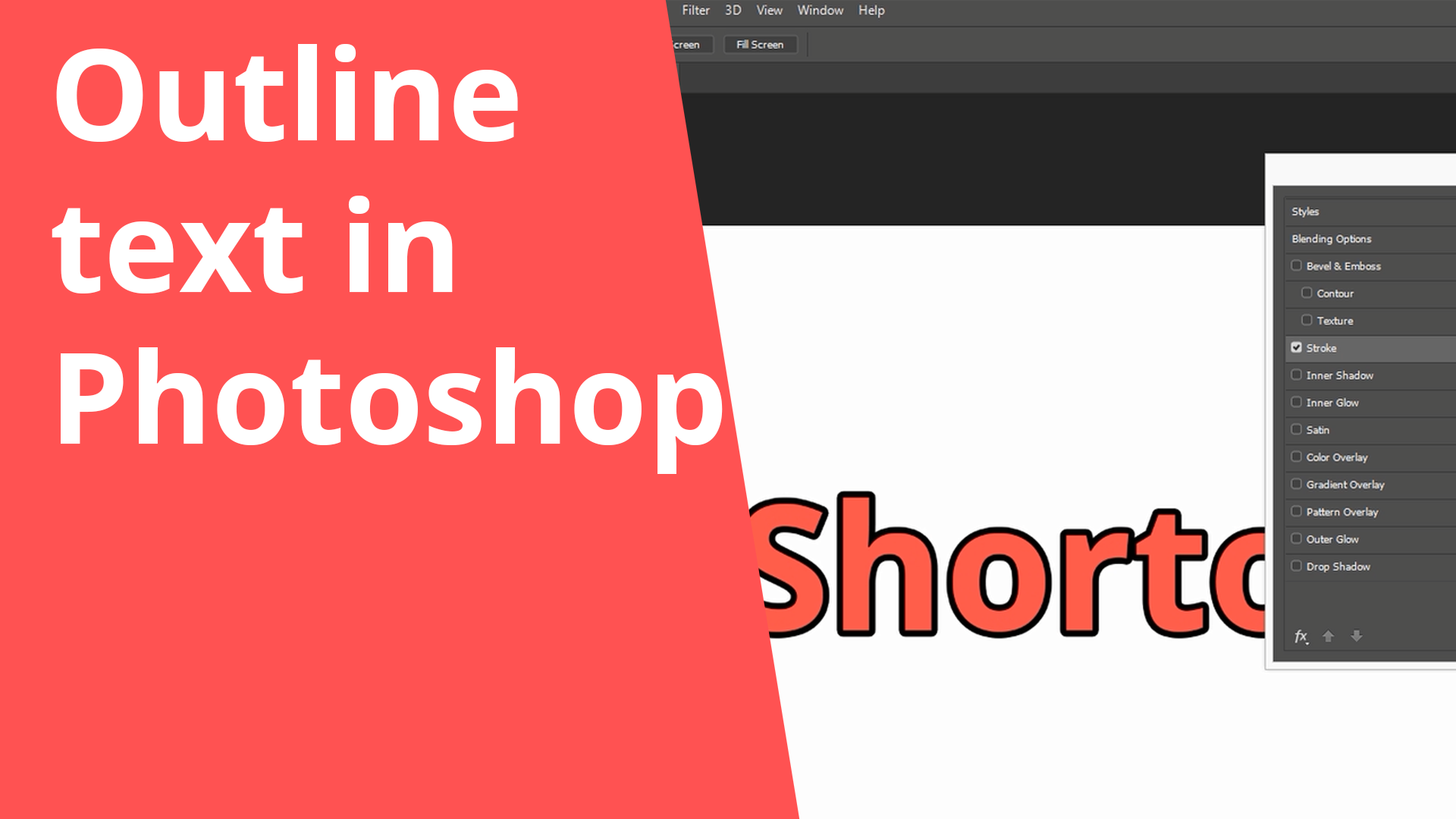 Outline text in Photoshop – Shortorial (Video)