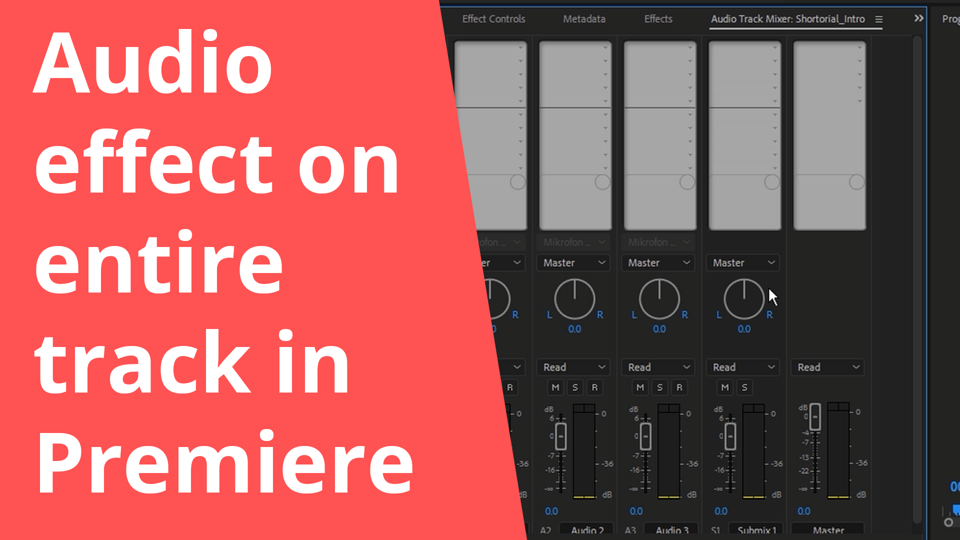 Audio effect on entire track in Premiere