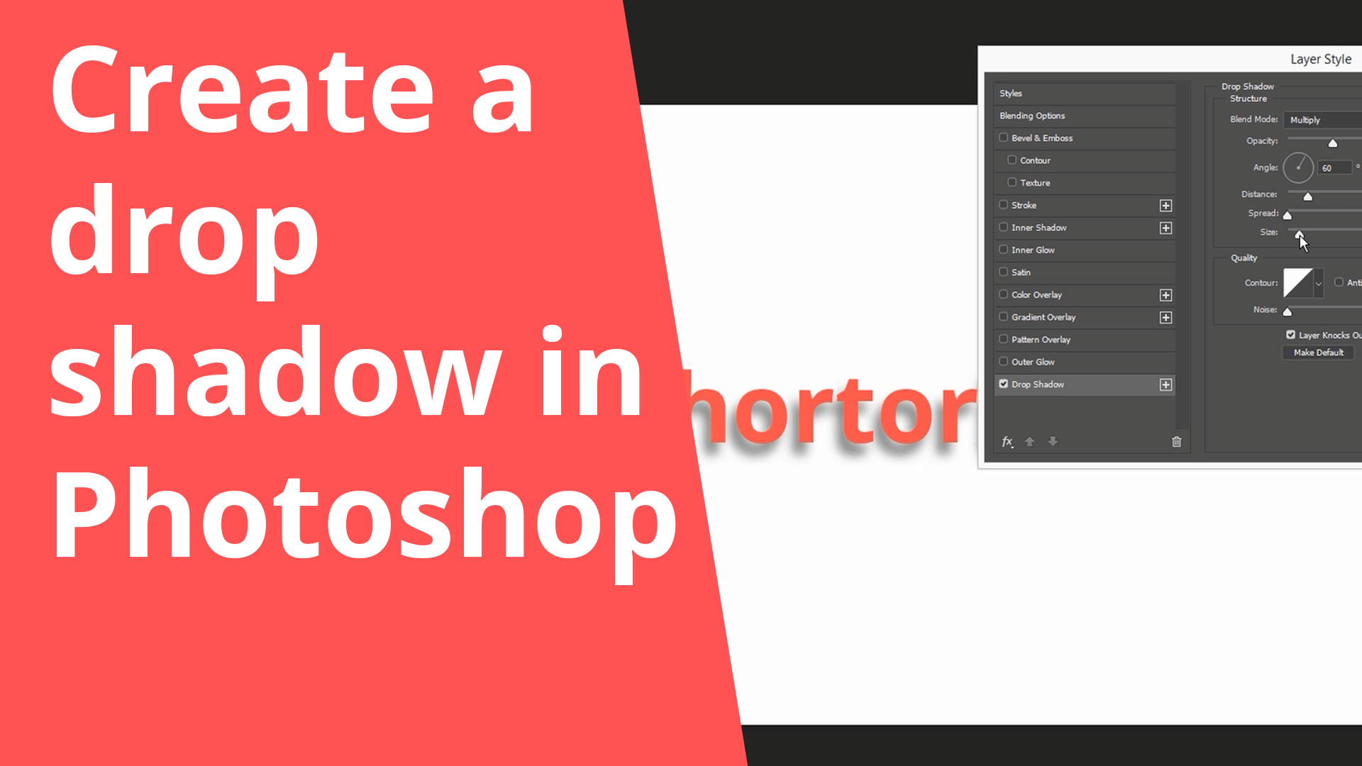 Create a drop shadow in Photoshop