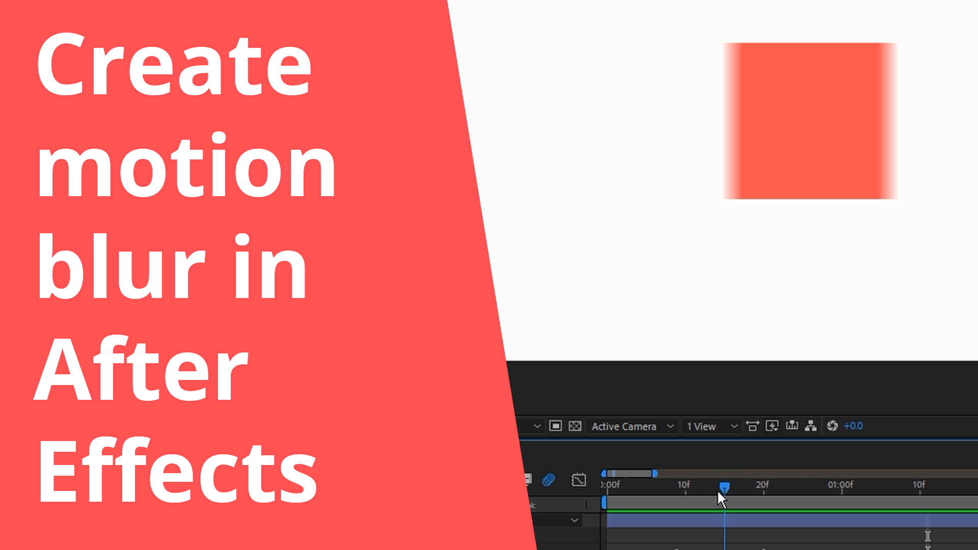 Create motion blur in After Effects