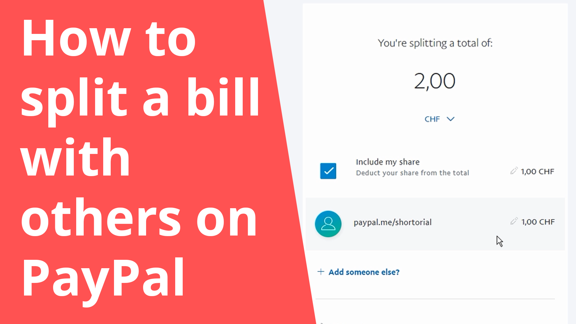 How to split a bill with others on PayPal
