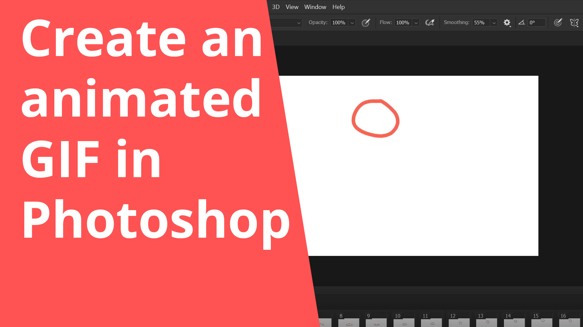 Create an animated GIF in Photoshop